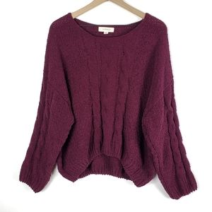 onetheland Cable Knit Chenille Oversized Sweater